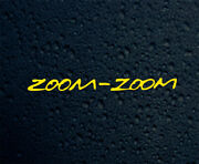Zoom Zoom Mazda Decal For Walls Laptop Water Bottles