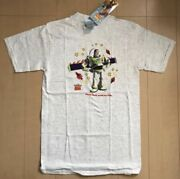Vintage Buzz Lightyear Toy Story 90and039s T-shirt Size M Gray Good Condition Rare