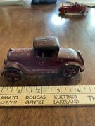 Antique A.c. Williams Hubley Cast Iron Red Coupe Roadster Car 1930's Original