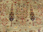 6'5x9'8 New Luxurious Hand Knotted Wool Super Pak Tabrizz Tree Of Life Rug