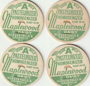 Lot Of 4 Milk Bottle Caps. Maplewood Dairy. Hudson Falls And Granville, Ny.