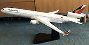 Vintage Travel Agent Model Md11 Philippines Airline -hand Made Solid Wood 62cm L