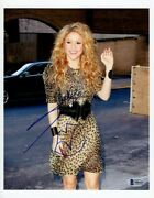 Shakira Signed Autographed 8.5x11 Photo The Voice Sexy Waving Bas X86415
