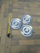 Oldsmobile 1954 Deluxe Global Hubcaps Vintage Rare Hubcaps 1954-1955 Set Of 3