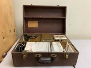 Vintage Hickok Model 121 Mutual Conductan Cardmatic Tube Tester W/cards And Case