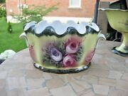 X56 Nice Compot Vase Bowl Victoria Ware 12 In Pottery