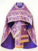 Russian Orthodox Priest Vestment | Violet And Gold | Handmade | Size Xl