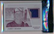 Corey Seager 2015 Topps Heritage Clubhouse Printing Plate Jersey Patch 1/1 Bgs 9