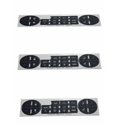 3 Pcs Radio Repair Button Dash Stereo Replacement Fits Gm 07-14 Decal Stickers