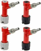 Homebrewing Pin Lock Disconnect Set With Swivel Nuts For Draft Beer Keg System
