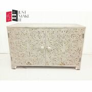 Bone Inlay Sideboard White Floral Design Made To Order