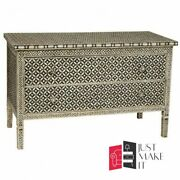 Bone Inlay Chest Of Drawer Sideboard Black And White Made To Order