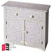 Bone Inlay Chest Sideboard White Floral Made To Order