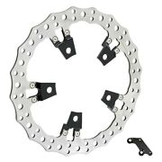 For Harley-davidson Heritage Classic 18 Front Right Jagged Jagged Brake Rotor