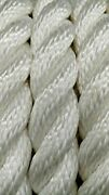 Premium 3 Strand Twisted White 100 Polyester Rope Low Stretch Outdoor Line