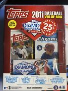 2011 Topps Baseball Factory Sealed Value Box 5 Update 1 Bowman Chrome Trout Rc