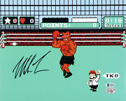 Mike Tyson Authentic Autographed Signed 11x14 Photo Punch-out Beckett 180904