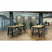 Kfi 41in H Conference Table With 42in D Solid Wood Top