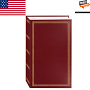 3-ring Pocket Burgundy Picture Album For 504 Photos - 4x6 Picture Albums New