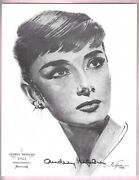 Audrey Hepburn Signed 8andfrac14 X 10andfrac12 And039roman Holidayand039 1962 Volpe W Full Letter Bas Loa