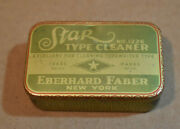 Vintage Star Type Cleaner Empty Metal Can, Eberhard Faber, New York