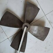 Propeller 4 Blade Rh Bronze For Boat 16 Inch X 12 Inch Pitch - Old And Used Good