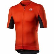 Castelli Vantaggio Bicycle Cycle Bike Jersey Fiery Red / Black