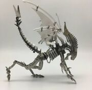 Diy Metal Beast With Wings Stainless Steel Assembly Toy Collectible Monster Mode