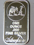 Proof Silvertowne Bar With Prospector And Mule Logo 1 Oz .999 Fine Silver 41421