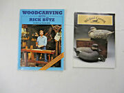Lot Of 2 Wood Carving Books Rick Butz Wildfowl Carving Magazine Patterns