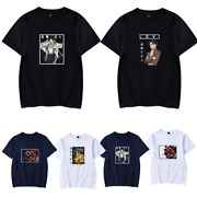 Anime T-shirt Attack On Titan Eren Jaeger Rivaille Ackerman Graphic Tee Tops