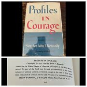 Profiles In Courage John F. Kennedy First Edition Hcdj 1955 1956 Signed Nevins