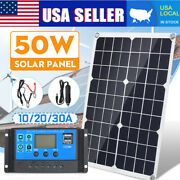 50w 12v Dual Usb Solar Panel Mppt Battery Charger Controller For Car Boat A8x1