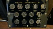 Susan B. Anthony Silver Dollar Set 1979 - 1981 13 Coin Set Inc. Proof Issues