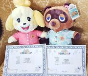 Build-a-bear Animal Crossing New Horizons Tom Nook And Isabelle W/ Theme Music