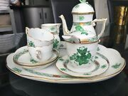Herend Coffe Set Green Chinese Bouquet