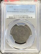 1805 Draped Bust Cent | Pcgs Vf Detail | Free Shipping | 2500 Survival | 19-16