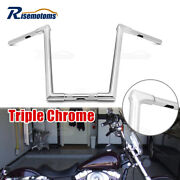 16and039and039 Chrome Ape Hanger Fused Handlebar For Harley Dyna Street Bobs Wide Glides