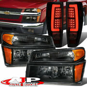 For 04-12 Colorado Canyon Clear Amber Reflector Headlight Led Smoke Tail Lamp