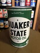 Early Quaker State Motor Oil Imperial Quart Oil Can