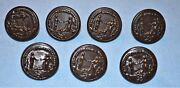 Wwi Lot Of 7 Subdued The Nation To Her Defender Coat Buttons
