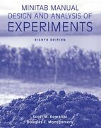 Minitab Manual Design And Analysis Of Experiments By Kowalski Scott M Book The