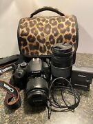 Canon Rebel T5 Camera Lenses Carrying Case And Other Accessories