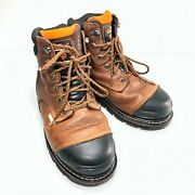 Herman Survivors Professional Series Brown Mens Shoveler Steel Work Boots Sz 8
