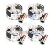 Genuine Piston And Pin And Snap Ring Assy 2341027910 X 4pieces For Santafe 00-06
