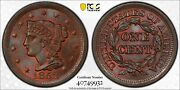 1852 Pcgs And Cac Ms66bn Large Cent Pq Coin