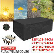 Large Pvc Outdoor Garden Furniture Covers Waterproof Patio Rattan Table Cube