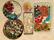 Huge Mixed Lot Over 1,000 Vintage Buttons All Types Sizes In Xmas Tin