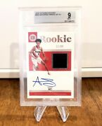 2018 Anfernee Simons Panini Encased Rookie Patch Auto And039d 21/99 Bgs Mint 9