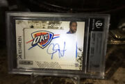 James Harden 2009-10 Panini Rookies And Stars Auto Patch 18/25 Gold Bgs 9/10 Auto